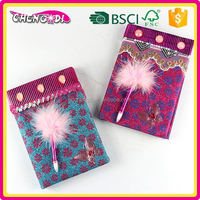 Factory Price creative hard plastic notebook cover with pen