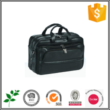Luxury executive leather briefcase, black computer bags