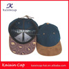 wholesale suede brim snapback caps hats custom blank leather closure snapback caps hats