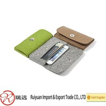 Alibaba promotion !!! Simple design high quality felt phone case with card slots