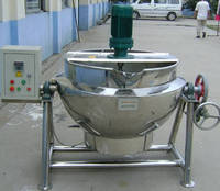 Safe and convenient industrial boiling pot
