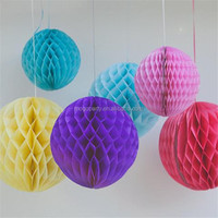 Tissue paper party decorations multiple colors to pick honeycomb ball
