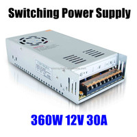 LED Strip light Display 360W 12V 30A Switch Switching Power Supply Adapter Driver for cctv camera
