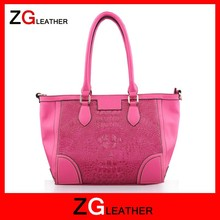 China handbags supplier lady tote bags girl leather handbag