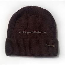 Winter knitting hat for men