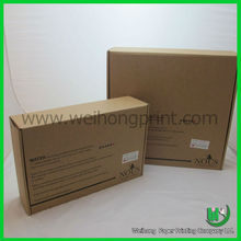 Recycled brown kraft shipping boxes manufacture