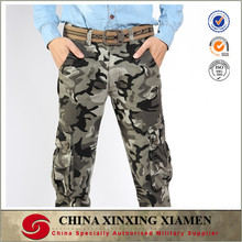 Wholesale top quality cheap men side pockets military style cargo pants for winter
