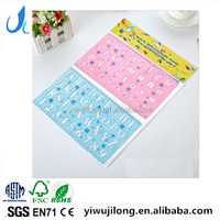 New letter number board Spirograph Graphics Symbols Drawing Template Ruler Student Children Assorted Color Stencil plastic Rule