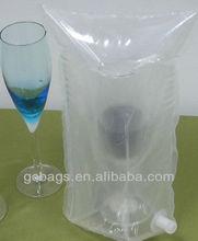 Air plastic bag for champagne glasses
