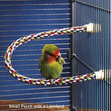 Cotton Rope Bird Perch