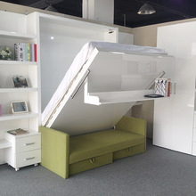 wall mounted bed, hidden wall bed, space saving sofa wall bed