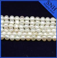 3-4mm potato shape freshwater pearl string