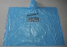 PE Disposable High Quality Rain Poncho With Custom Logo