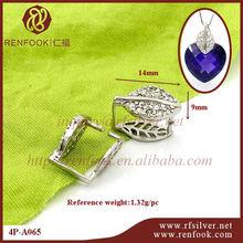 renfook venta directa de fábrica 925 de plata de ley de cristal collar de cierre para la joyería de jade