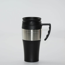Cheap High quality OEM logo printing double wall stainless steel travel mug