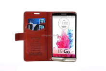 BRG New arrival Case Leather Case For LG G3 with Card slots on Back Stand Function,for LG G3 leather case