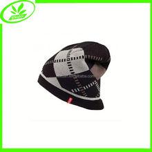 Foldable man fashion jacquard hat stock