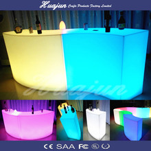 folding high bar tables/PE material color changing led high bar table