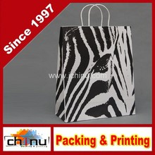 """Chevron Paper Gift Bags Shopping Sales Tote Bags 6"""" x 9"""" Shimmering Silver Zig Zag Design-Caddy Bay Collection(220034)"""