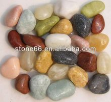 Polished Cobbles and Pebbles Mixed Natural River pebble wash stone garden