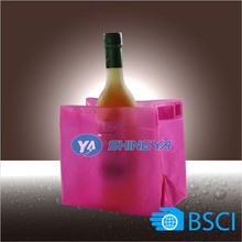 Top quality beer bottle champagne cooler bag PVC cooler ice bucket (BSCI factory)