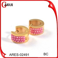 earring factory china gold pearl earrings round earring beads