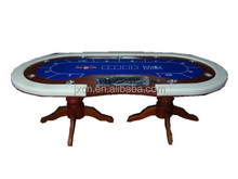 Texas wood poker table for casino Luxury