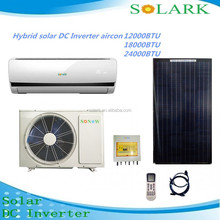 Eco friendly room use wall mounted hybrid solar air conditioner