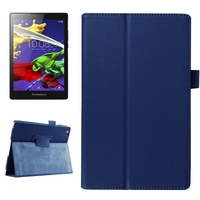 2015 New Products Litchi Texture Leather Flip Cover Case for Lenovo Tab 2 A8