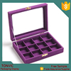 Mini 12 grids Jewelry Rings Earrings Display Show Tray box