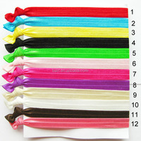 New developed pure colors 19cm children tie hair band