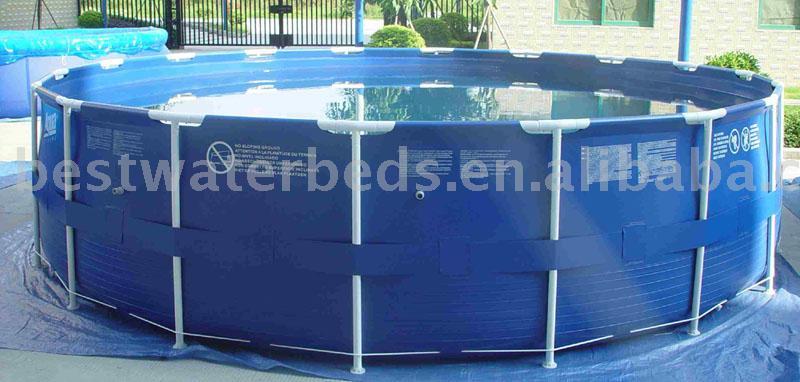 Rodada piscina com arma o de metal pula pulas infl veis for Piscine portable