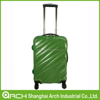 Shiny PC trolley hard shell luggage, travel suitcase and bag set