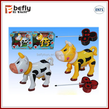 Lovely baby plastic cow shape r/c animal toy for sale