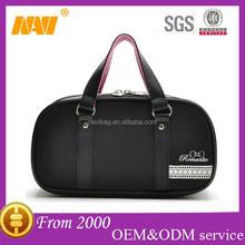 Portable polyester travel cosmetics bag case with handle makeup bag case organizer toiletry bag