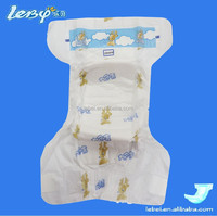 Adult printed baby diaper cover with magic tape