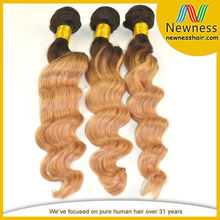 Pure Hair Grade AAAAA cheap brazilian orange remy hair extensions