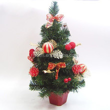 factory direct sale small decorated christmas tree popular Xmas tree with decoration