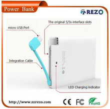 HOT SALES!!! 2000mAh super thin portable power bank with many custom color for iphone, ipad, digital camera