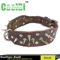 Popular first layer leather rivet dog collar
