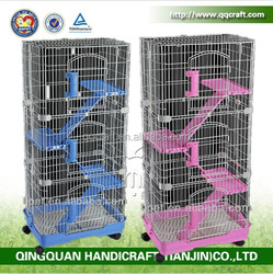 QQPET Factory Cheap Price Wholesale Dog Cage three-Layer Cat Bed Cat Cage