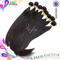 Top selling 100% unprocessed virgin real human brazilans hair