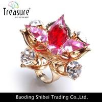 latest plating gold finger ring designs for women
