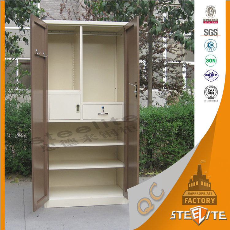 High quality wooden style bedroom corner almirah designs metal clothing wardrobe cabinet buy - Almirah designs for clothes ...