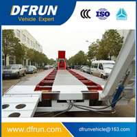 China DFRUN trailer manufacturer 4 axles or 3 axles deck widener lowbed trailer / deck widening lowboy semi trailer