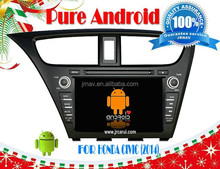 car gps dvd For Honda CIVIC 2014 left Pure android 4.4 RDS ,GPS,WIFI,3G,support OBD,support TPMS
