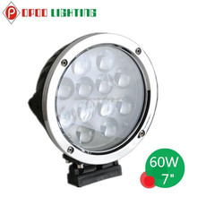Fish Eye Lens 60W Led Driving Light, 4WD Accessories 7inch Round 60W Led Driving Light