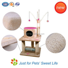 2015 Sweet factory new design cat tree/popular cat house cat toy catnip tree