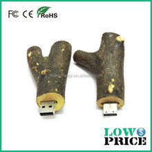 2015 Top selling cheapest wood branch usb stick for Promotional Gift