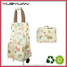 2015 Hot Wholesale China Most Popular Design Good Quality Vegetable Folding Shopping Trolley Bag